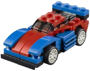 Sanyal Architect 3 in 1 City Creator Mini Speeder Building Blocks Construction Toy Vehicles For Gift - 65 Pcs Set