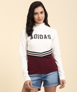 Adidas Originals Solid Women S Round Neck Multicolor T Shirt Best