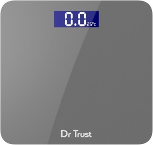 Dr. Trust (USA) Platinum Rechargeable Digital Personal Weighing Scale Electronic Weight Machine For Human Body with Temperature Display (USB Cable, Thermometer, Measuring Tape Included) Weighing Scale