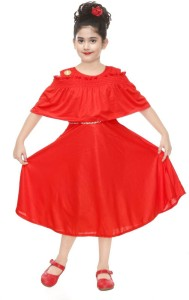 KL Collection Girls Midi/Knee Length Party Dress