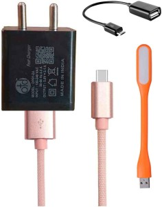 OTD Wall Charger Accessory Combo for MI A1, MI MiX 2, Oneplus 5T, LeEco Le 1s, Gionee S6