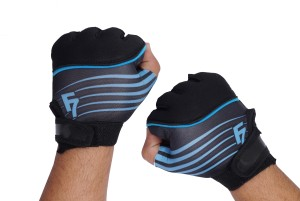 Dee Mannequin Vivacious Gym & Fitness Gloves (Free Size, Blue, Black)
