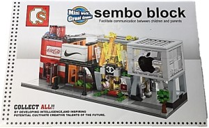 Tako bell Coca-cola Lego Like Building Blocks from Sembo Blocks to Construct Coca-cola factory Educational Toy for Kids----132 PCS