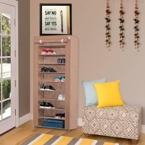 Flipkart SmartBuy 1-Door 10-Shelf Metal Collapsible Shoe Stand
