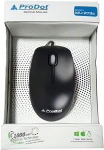 ProDot 273s USB Wired Optical Mouse for PC Wired Optical Mouse