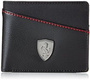 Puma Boys Black Genuine Leather Wallet