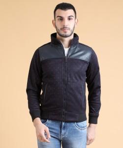 Fort Collins Full Sleeve Self Design Men's Sweatshirt