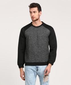 WROGN Full Sleeve Self Design Men's Sweatshirt