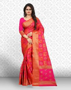 Divastri Checkered Patola Jacquard, Silk Saree