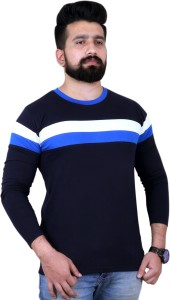 KAY S APPARELS Solid Men's Round Neck Dark Blue T-Shirt