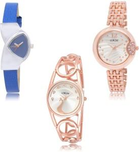 LOREM LK208-228-232 Awesome Designer Combo Watch  - For Women