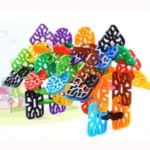 Sanyal Mini Bricks Blocks Toys for Kids Children Colorful Plastic Educational Geometry Snowflake Building Block Models - ( Multi-color )