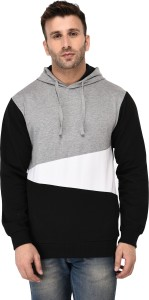 Vivid Bharti Full Sleeve Colorblock Men's Sweatshirt