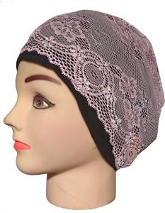 Hejabiya Self Design Lace / Net Hijab Cap, Headband Underscarf Cap