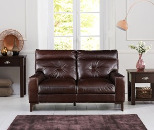 HomeTown Leather 2 Seater  Sofa