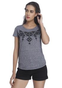 Vero Moda Casual Short Sleeve Solid Women's Blue Top