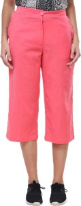 Crease & Clips Regular Fit Women's Orange Trousers