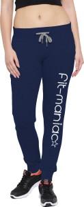 So Sweety Printed Women's Dark Blue Track Pants