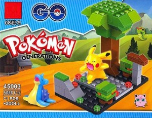 Sanyal Pokemon Go 71 pcs with 2 Mini Figure Building Block Toy - Multicolored
