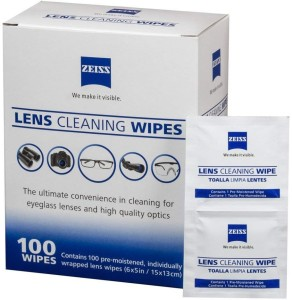 Zeiss Pre-Moistened Lens Cleaning Wipes - Cleans Bacteria and Germs without Streaks for Eyeglasses and Sunglasses  Lens Cleaner