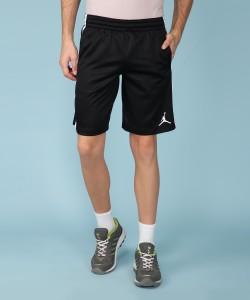 Nike Self Design Men Black Sports Shorts
