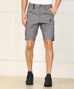 Nike Solid Men Grey Sports Shorts