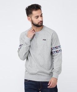 Fila Full Sleeve Solid Men Sweatshirt