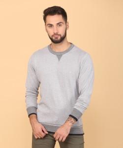 Indian Terrain Full Sleeve Solid Men's Sweatshirt