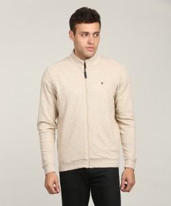 LP Louis Philippe Full Sleeve Self Design Men's Sweatshirt