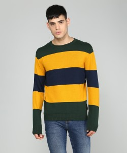 Levi's Full Sleeve Striped Men's Sweatshirt