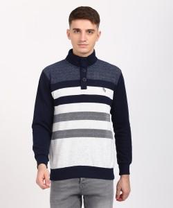 Duke Full Sleeve Striped Men Sweatshirt