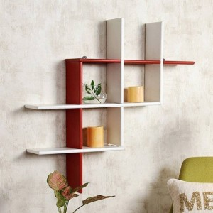 MartCrown Wall rack decor Wooden Wall Shelf