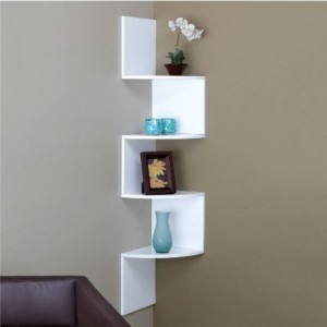 MartCrown Office decor rack shelf Wooden Wall Shelf