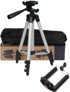 BUY SURETY Premium Quality Tripod Stand 360 Degree 3110 Portable Digital Camera DSLR Mobile Stand Holder Camcorder Tripod Stand Lightweight Aluminum Flexible Portable Three-way Head Compatible Tripod Mobile Holder