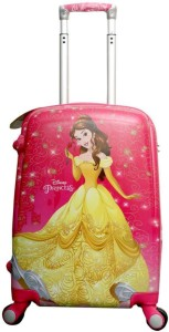 Disney Princess Belle Group 18 Inch Printed Hard Sided Polycarbonate 4 Wheels Children's Luggage/Trolley Bag Expandable  Cabin Luggage - 18 inch