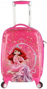 Disney Ariel Group 18 Inch Printed Hard Sided Polycarbonate 4 Wheels Children's Luggage/Trolley Bag Expandable  Cabin Luggage - 22 inch