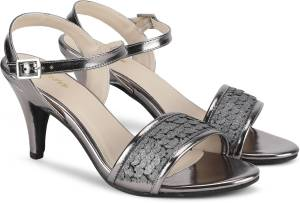 Bata Women Grey Heels