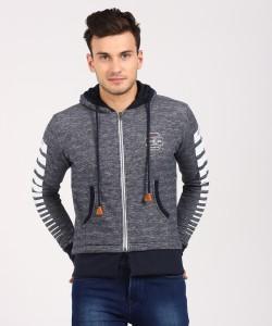 Status Quo Full Sleeve Self Design Men's Sweatshirt