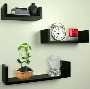 MartCrown New decor rack shelf Wooden Wall Shelf