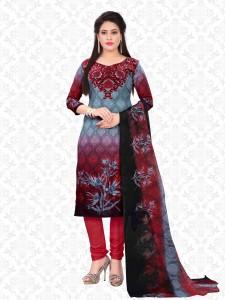 Divastri Crepe Printed Salwar Suit Dupatta Material Un stitched