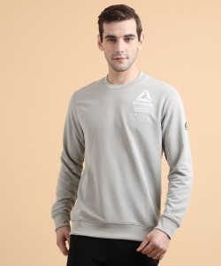 REEBOK Full Sleeve Solid Men Sweatshirt