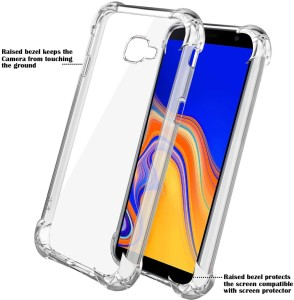 Spectacular Ace Back Cover for Samsung Galaxy J4 PlusTransparent, Dual  Protection, Flexible Case