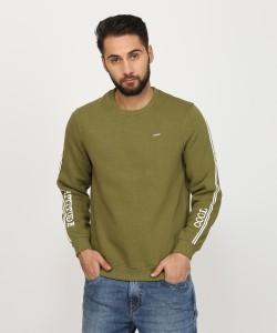 Indigo Nation Street Full Sleeve Solid Men's Sweatshirt