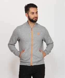 INDIGO NATION Full Sleeve Solid Men's Sweatshirt