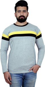 KAY S APPARELS Solid Men's Round Neck Grey T-Shirt
