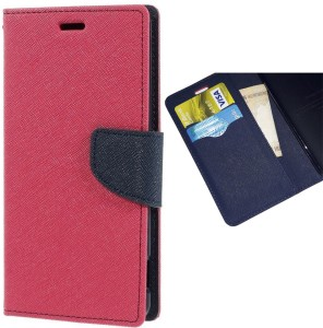 3b1926a6d42 CAFUNE Wallet Case Cover for Mi Redmi Note 5 Pro Pink Blue Shock ...