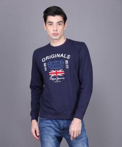 Pepe Jeans Full Sleeve Applique Men Sweatshirt