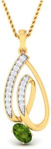 Punjab Jewellers and Sons NA 18kt Diamond, Emerald Yellow Gold Pendant
