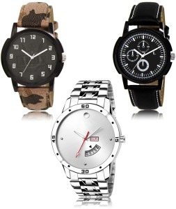 LegendDeal LR-03-13-103 Exclusive Collection Pack Of 3 Combo Watch  - For Men