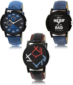 LegendDeal LR-02-07-12 Exclusive Collection Pack Of 3 Combo Watch  - For Men
